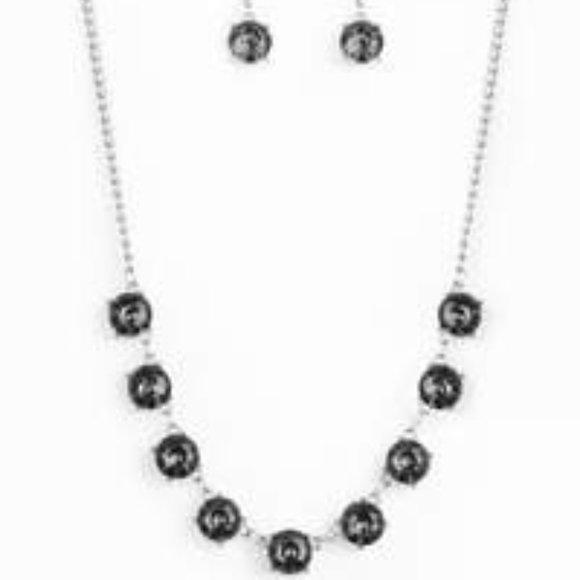 Iridescent Icing - Silver Rhinestone Necklace